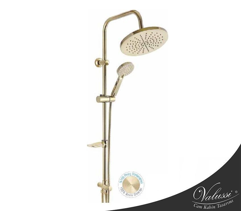 Gold Oval Duş Seti